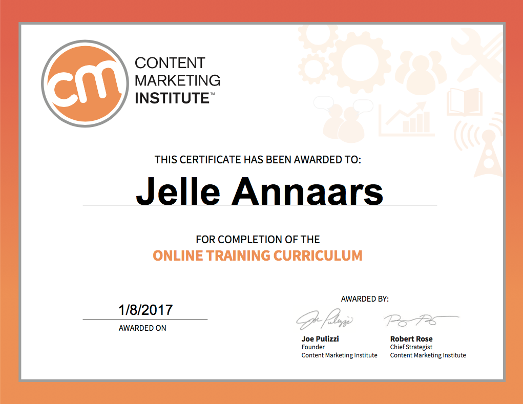 Content Marketing Institute University 2016